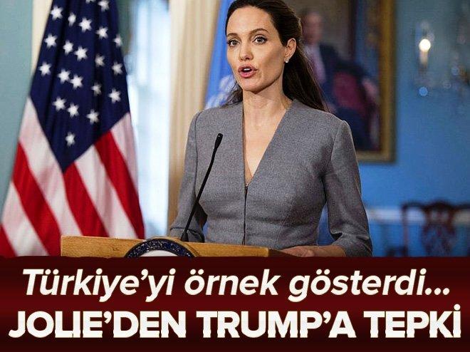 ANGELİNA JOLİE'DEN TRUMP'A TEPKİ