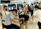 Hong Kong'da tren istasyonunda protestoculara saldırı | Video