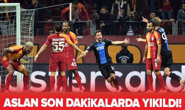 Galatasaray, Club Brugge önünde son dakikalarda yıkıldı!