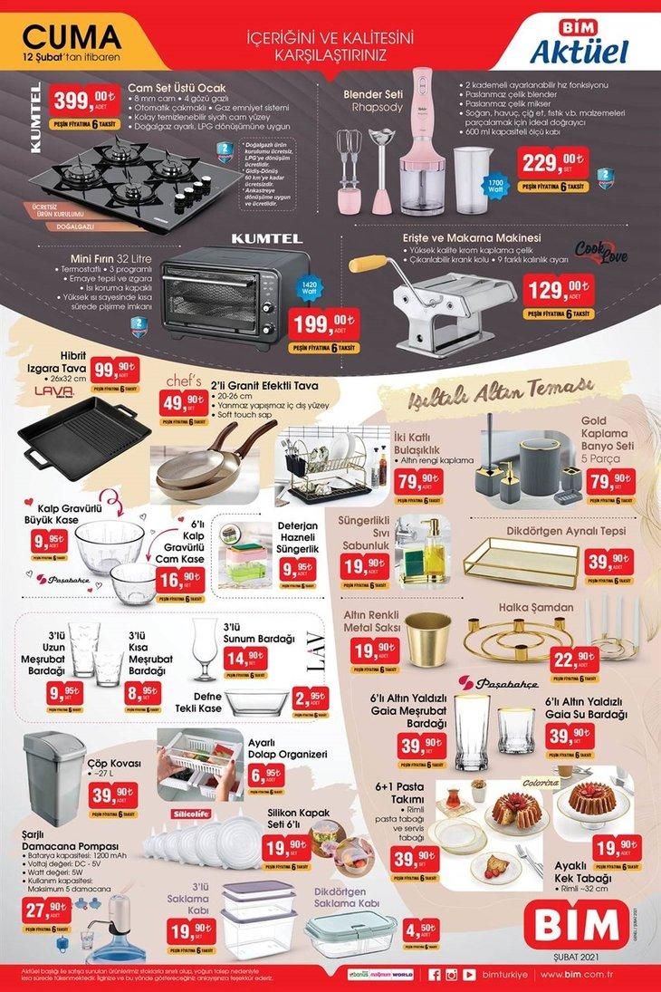 12 Şubat BİM aktüel ürünler kataloğu! BİM 12 Şubat aktüel ürünler kataloğu!