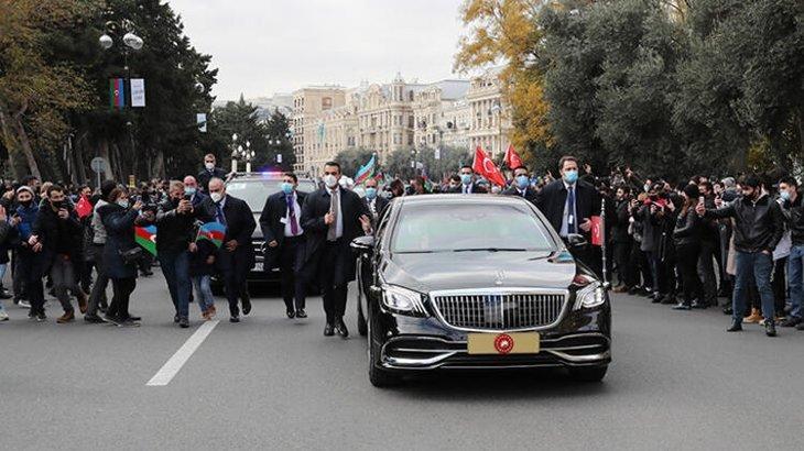 Azerbaycan'daki Zafer Günü'nün Onur Konuğu Başkan Erdoğan Bakü'de! Azerbaycan'da büyük heyecan