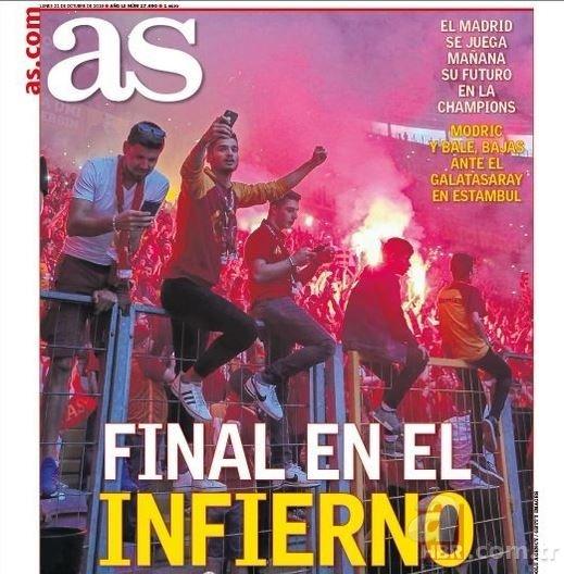 Avrupa basınında Galatasaray-Real Madrid maçı: Cehennemde final!