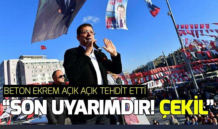 Ekrem İmamoğlu DSP adayı Handan Toprak Benli'yi tehdit etti