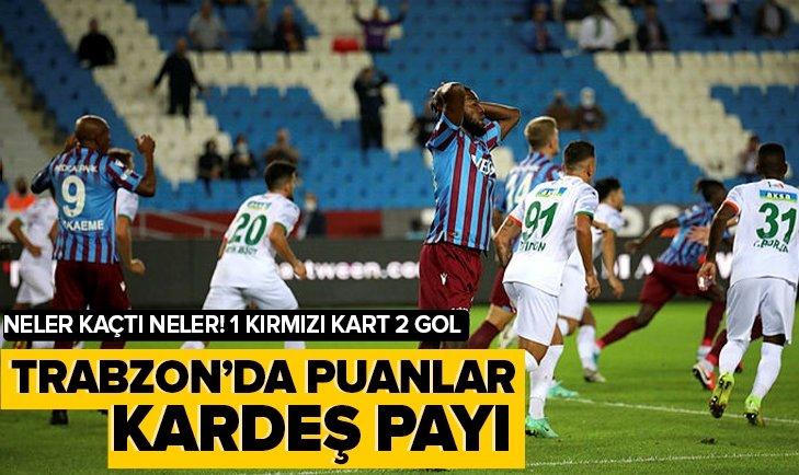 Trabzon'da puanlar kardeş payı