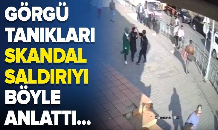 Karaköy'de başörtülü gençlere çirkin saldırı!