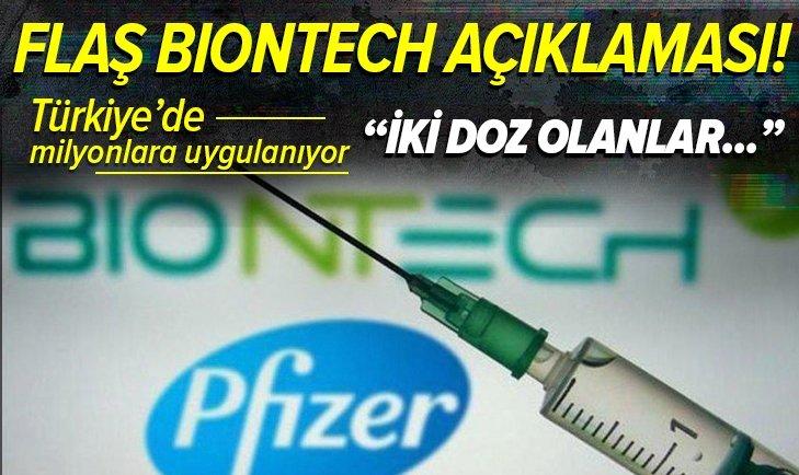 Türkiye'de uygulanan BioNTech aşısına yönelik son dakika açıklaması! BioNTech aşısı yüzde kaç koruyor?