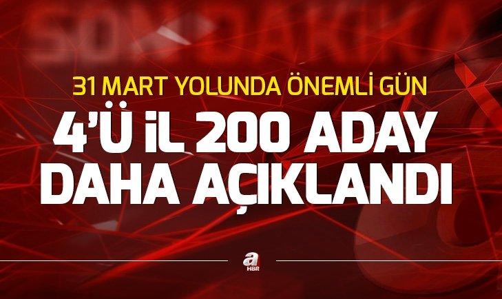 Son dakika: MHP 4'ü il 200 belediye başkan adayını daha açıkladı