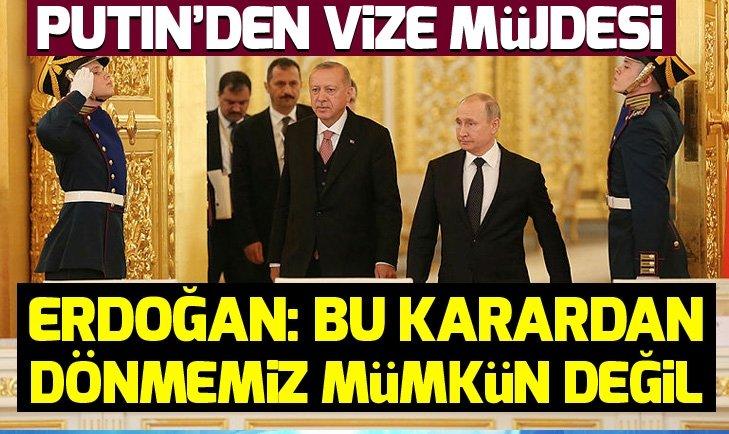 SON DAKİKA: Erdoğan ve Putin'den flaş açıklamalar