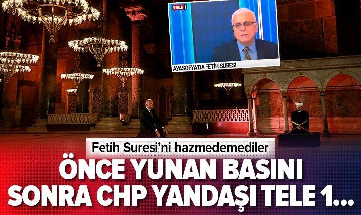 CHP yandaşı TELE 1'de Fetih Suresi hazımsızlığı
