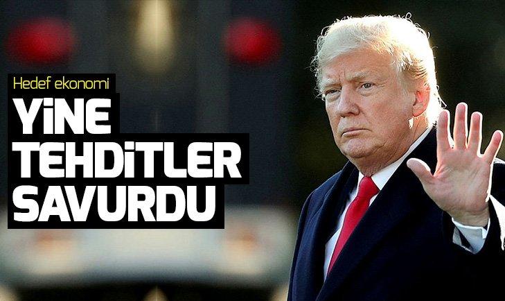 ABD Başkanı Trump, Çin'i yine tehdit etti! Cevap gecikmedi