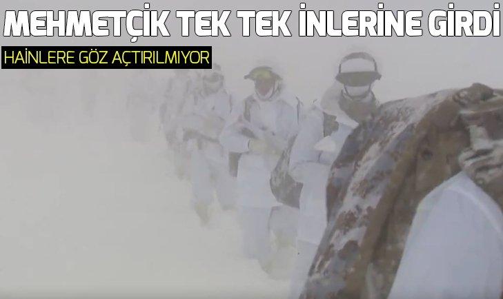 ŞIRNAK'TA HAİNLERİN İNLERİNE GİRİLDİ!