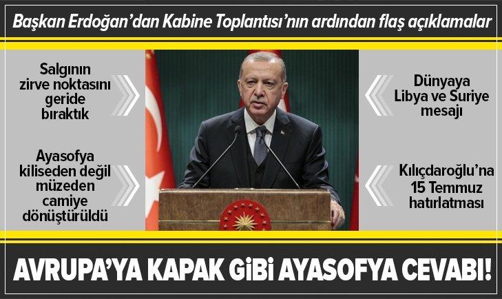 Kabine Toplantısı sona erdi! Başkan Erdoğan'dan flaş açıklamalar