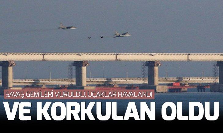 Savaş gemileri vuruldu uçaklar havalandı!