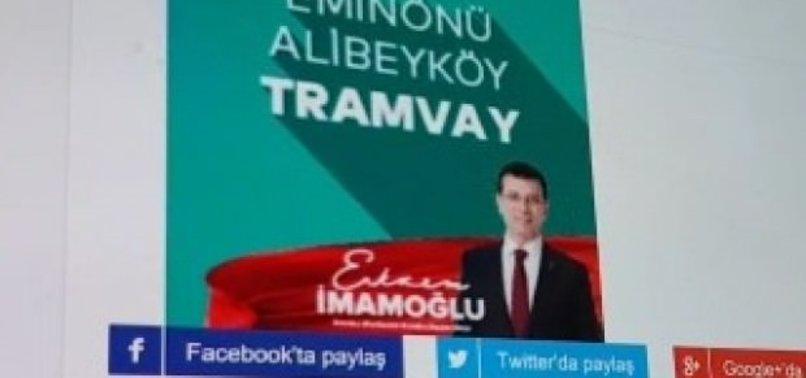 EKREM İMAMOĞLU, YAPILMIŞ TRAMVAYI VADETTİ!