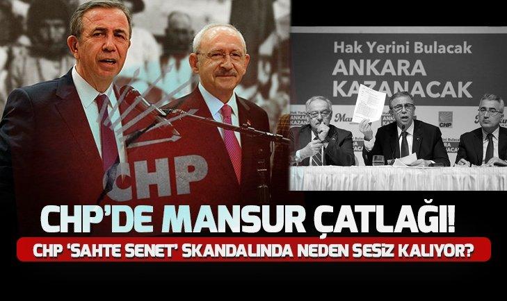 CHP'DE MANSUR YAVAŞ ÇATLAĞI!