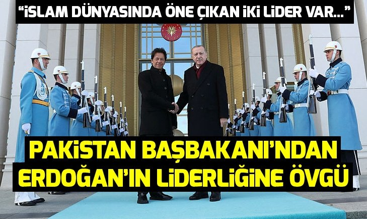 Pakistan Başbakanı İmran Han'dan Erdoğan'ın liderliğine övgü