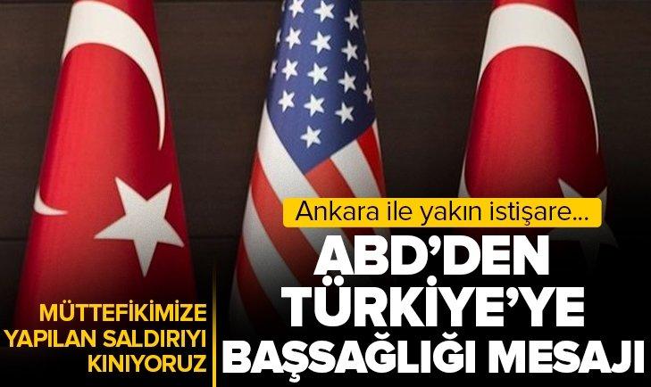 ABD'den son dakika Türkiye açıklaması! NATO müttefikimize yapılan saldırıyı kınıyor ve Türkiye'ye başsağlığı diliyoruz