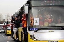 Fenerbahçe-Galatasaray maçı öncesi bir taraftar otobüsten düştü