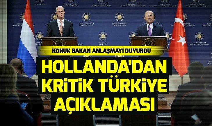 Mevlüt Çavuşoğlu ile Stef Blok'tan ortak açıklama