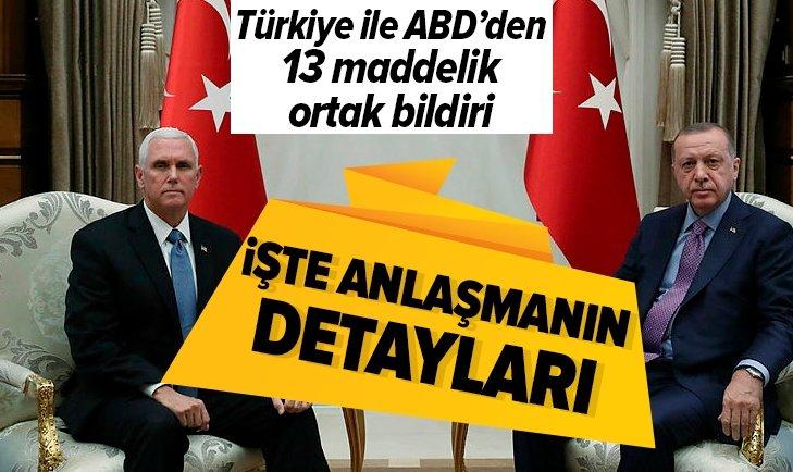 Türkiye ile ABD'den ortak bildiri