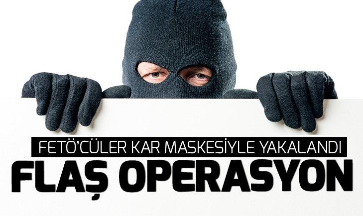 Eskişehir'de FETÖ operasyonu! Kar maskeleriyle yakalandılar