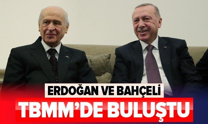 Başkan Erdoğan Devlet Bahçeli ile görüştü