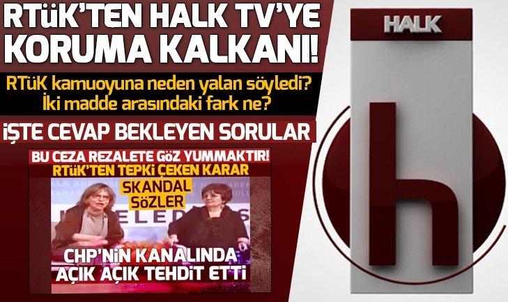 RTÜK'ten Halk TV'ye koruma kalkanı