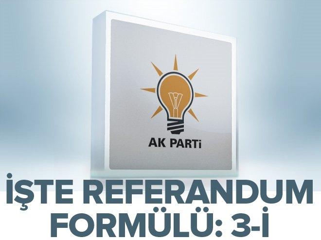AK PARTİ'DE 3-İ FORMÜLÜ