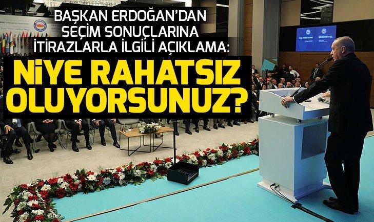 Son dakika: Başkan Erdoğan'dan seçim sonuçlarına itirazlarla ilgili açıklama