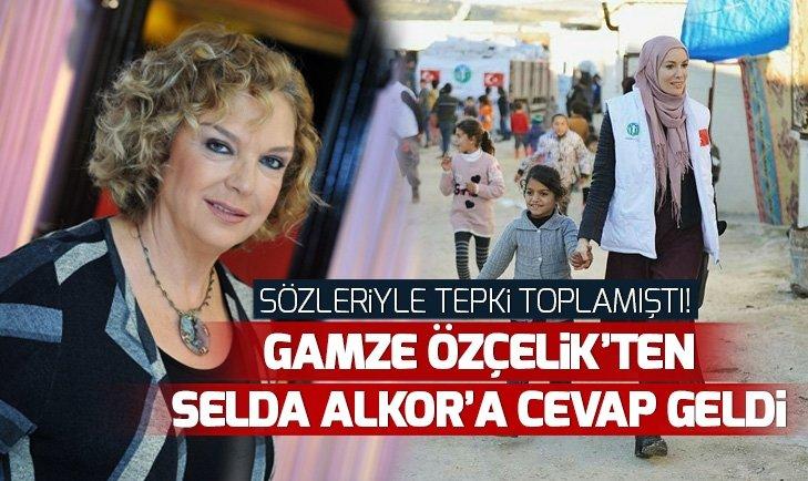 GAMZE ÖZÇELİK'TEN ÜNLÜ OYUNCU SELDA ALKOR'UN SÖZLERİNE CEVAP!