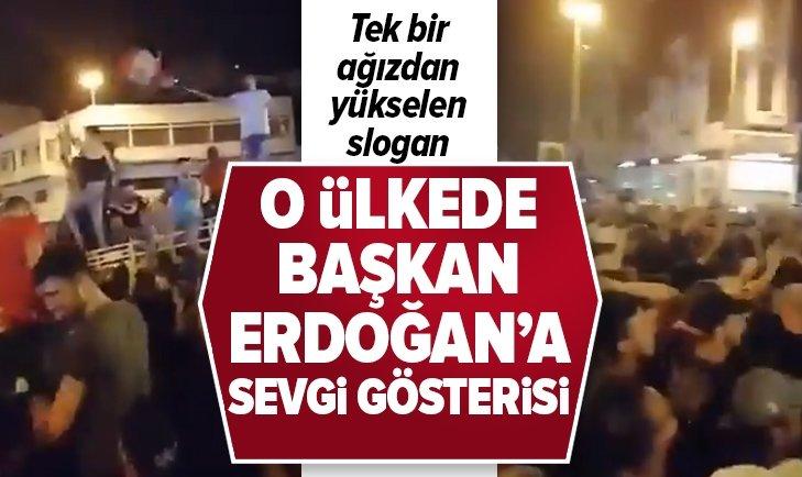 BAŞKAN ERDOĞAN'A LÜBNAN'DA SEVGİ GÖSTERİSİ!