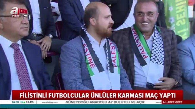 Şöhretler karmasıyla Filistin takımı arasında dostluk maçı