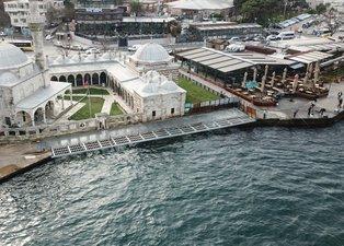 İBB'nin skandal Kuşkonmaz Camii çalışması gökyüzünden görüntülendi