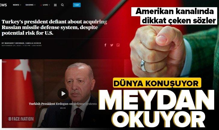 Başkan Erdoğan'ın röportaj verdiği Amerikan CBS News: Türkiye Cumhurbaşkanı meydan okuyor