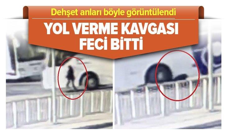 YOL VERME KAVGASI FECİ BİTTİ! DEHŞET ANLARI KAMERADA