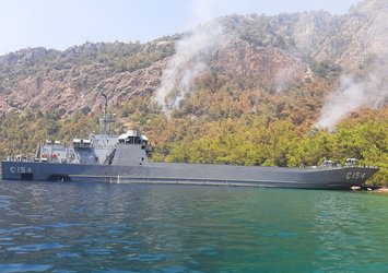 Çıkarma gemileriyle müdahale edildi! Milli Savunma Bakanlığı duyurdu