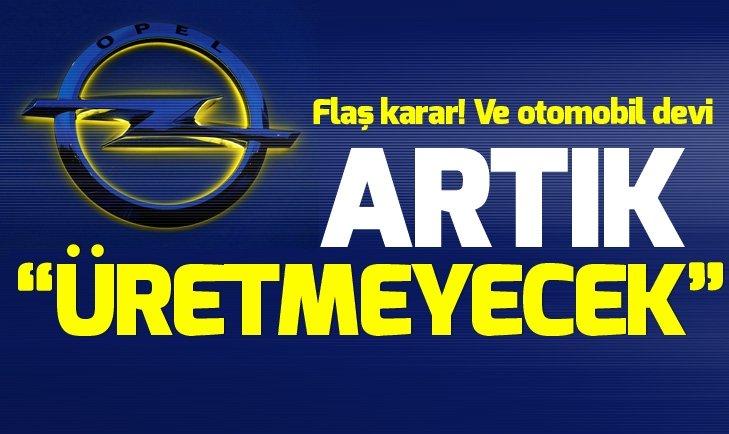"""FLAŞ KARAR! VE OTOMOBİL DEVİ ARTIK """"ÜRETMEYECEK"""""""