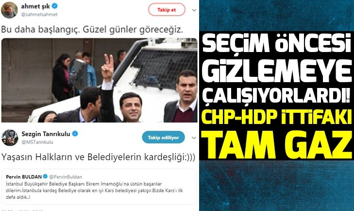 CHP ile HDP ittifakı tam gaz!