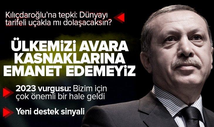Son dakika: AK Parti İl Başkanları Toplantısı | Başkan Erdoğan'dan Kılıçdaroğlu'na sert tepki: Biz memleketi avara kasnaklarına emanet edemeyiz