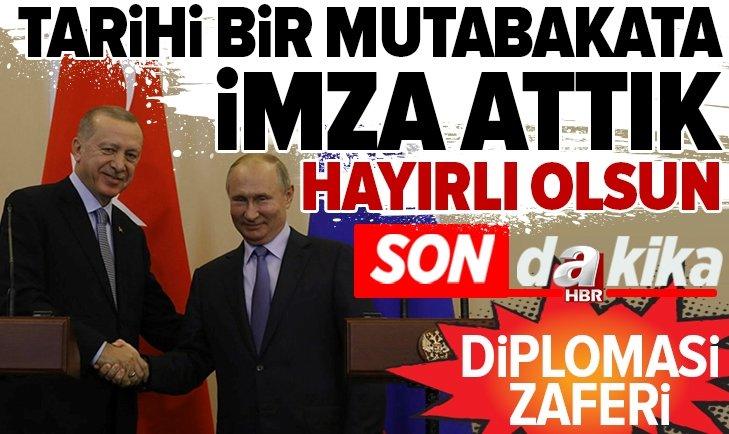 Başkan Erdoğan ile Putin'den kritik zirve sonrası önemli açıklamalar
