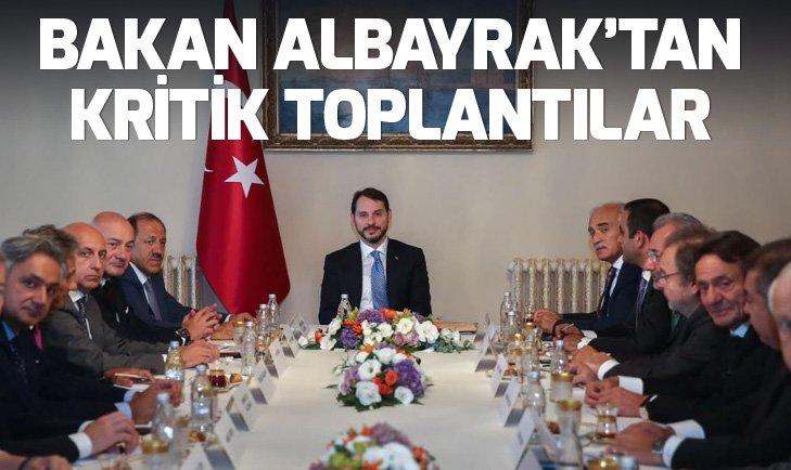 BAKAN BERAT ALBAYRAK'TAN OVP ÖNCESİ KRİTİK TOPLANTILAR