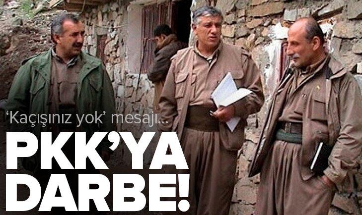 PKK'ya darbe! Terör elebaşlarına 'kaçışınız yok' mesajı...