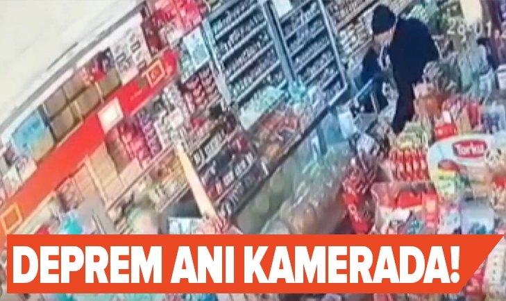 MANİSA'DA DEPREM ANI KAMERADA!