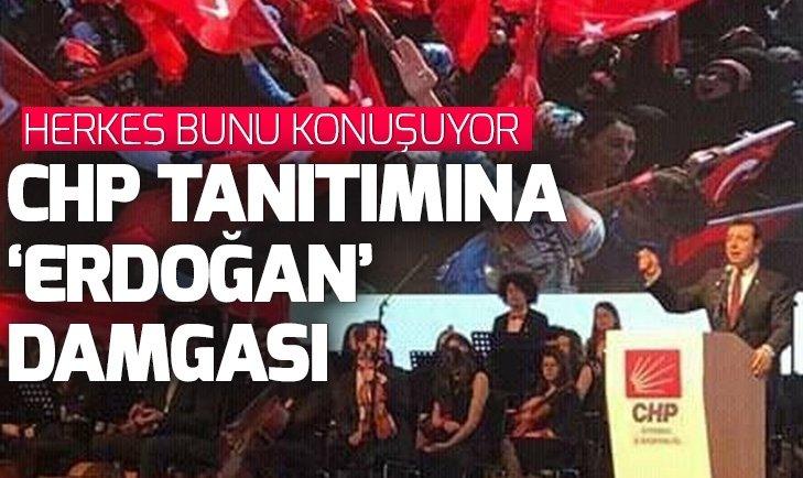 Herkes bunu konuşuyor! CHP'nin töreninde Ekrem İmamoğlu'nu Başkan Erdoğan mitinginin görüntüsüyle tanıttılar