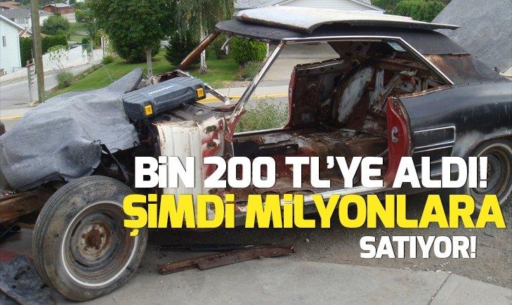 BİN 200 TL'YE ALDIĞI ARAÇTAN MİLYONLAR KAZANDI!