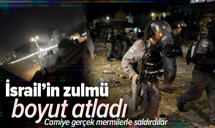 Katil İsrail'den Filistinlilere gerçek mermilerle saldırdı!