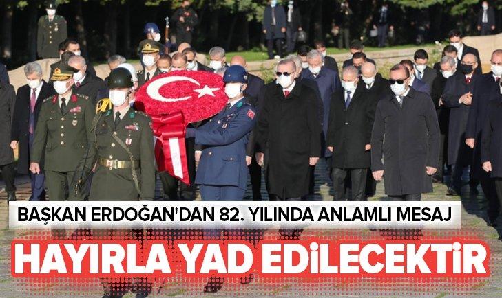 Başkan Erdoğan ve devlet erkanı Anıtkabir'de