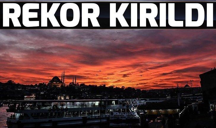 Yabancı turizmcilerin İstanbul ilgili rekor seviyeye yükseldi