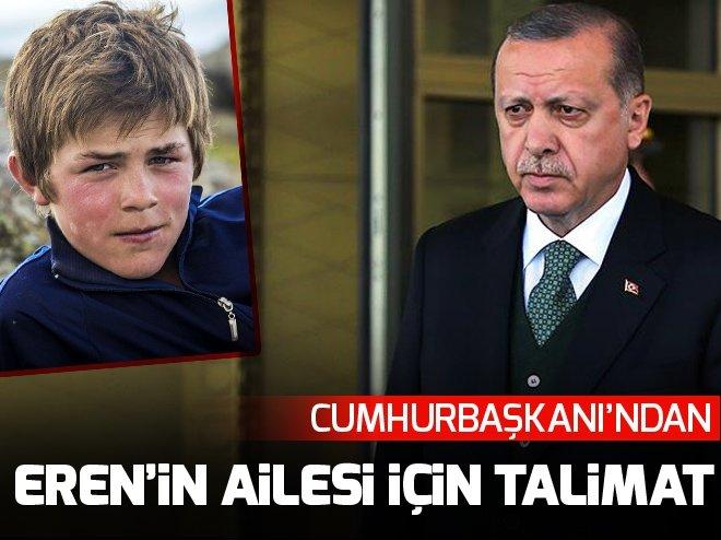 Cumhurbaşkanı Erdoğan'dan Eren Bülbül'ün ailesi için talimat