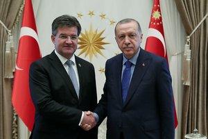 Başkan Erdoğan, Slovakya Dışişleri Bakanı Lajcak'ı kabul etti